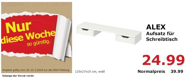 IKEA ALEX Aufsatz für Schreibtisch