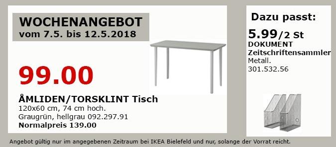 IKEA AMLIDEN/TORSKLINT Tisch