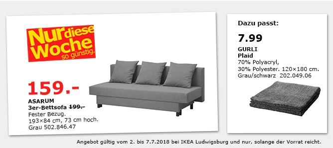 IKEA ASARUM 3er-Bettsofa