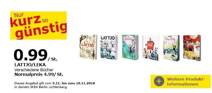 IKEA Berlin-Lichtenberg - LATTJO/LEKA Bücher - jetzt 80% billiger