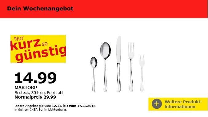 IKEA Berlin-Lichtenberg - MARTORP Besteck, 30 teile