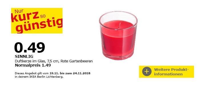 IKEA Berlin-Lichtenberg - SINNLIG Duftkerze im Glas