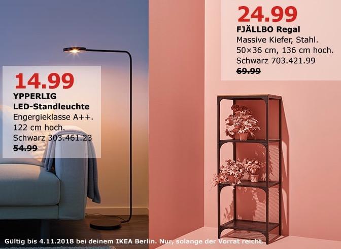 IKEA Berlin-Lichtenberg - YPPERLIG LED-Standleuchte - jetzt 73% billiger