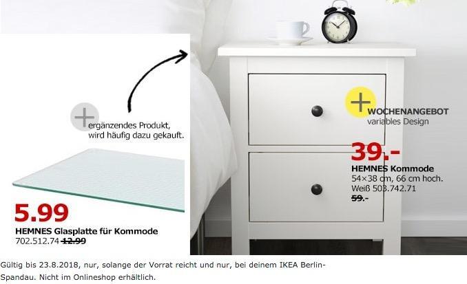 IKEA Berlin-Spandau HEMNES Kommode