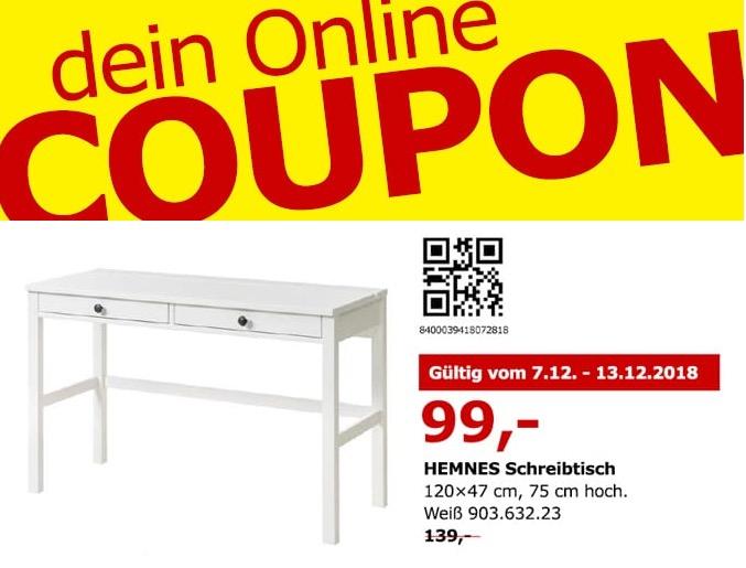 IKEA Berlin-Spandau - HEMNES Schreibtisch, 120x47 cm