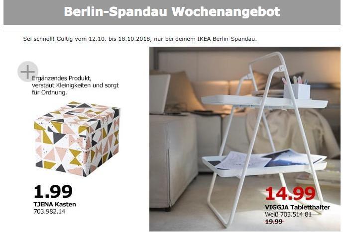 IKEA Berlin-Spandau - VIGGJA Tabletthalter - jetzt 25% billiger