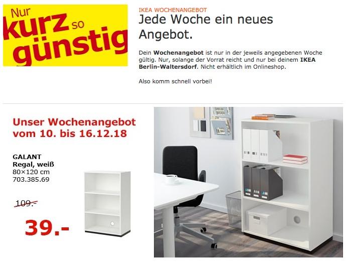 IKEA Berlin-Waltersdorf - GALANT Regal, 80x120 cm