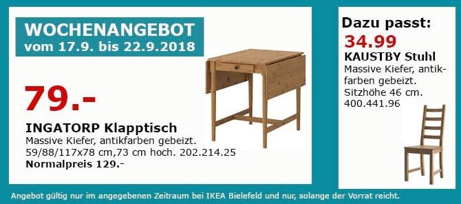 IKEA Bielefeld - INGATORP Klapptisch