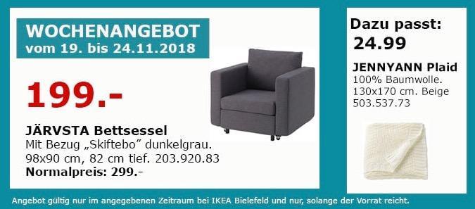 IKEA Bielefeld - JÄRVSTA Bettsessel, dunkelgrau