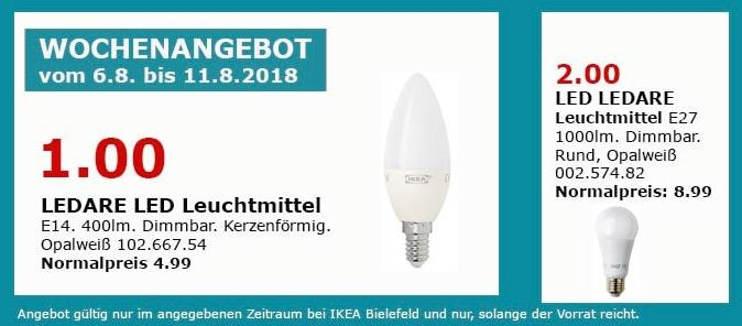IKEA Bielefeld LEDARE LED Leuchtmittel,  E14, 400lm