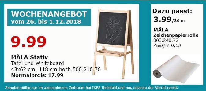 IKEA Bielefeld - MALVA Stativ, Tafel und Whiteboard