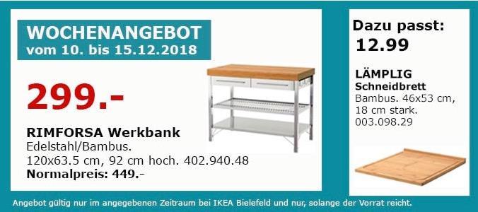 IKEA Bielefeld - RIMFORSA Werkbank