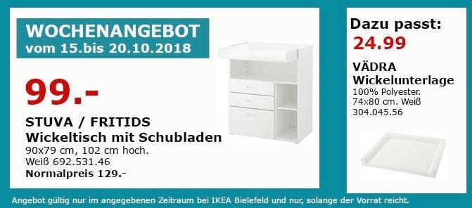 IKEA Bielefeld - STUVA/FRITIDS Wickeltisch mit Schubladen - jetzt 23% billiger