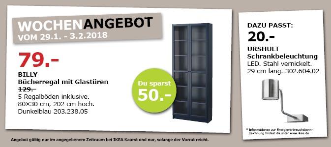 IKEA BILLY Bücherregal mit Glastüren
