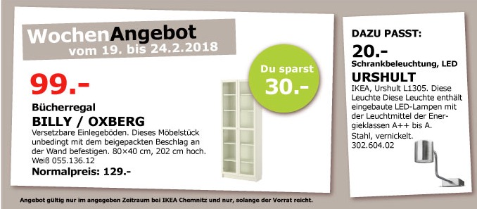 IKEA BILLY OXBERG Bücherregal