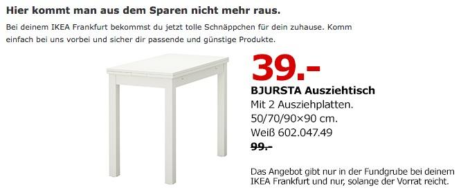 IKEA BJURSTA Ausziehtisch - jetzt 61% billiger