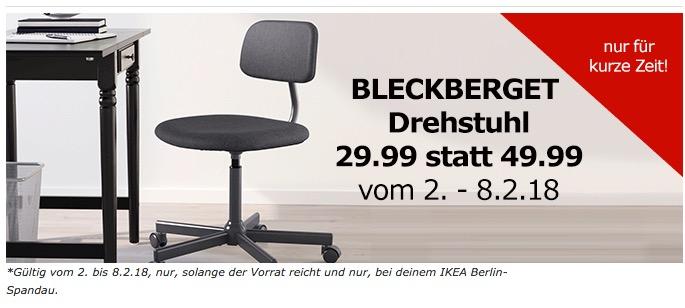 IKEA BLECKBERGET Drehstuhl