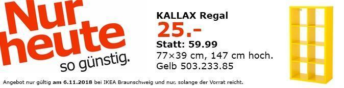 IKEA Braunschweig - KALLAX Regal gelb