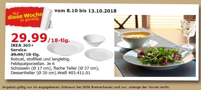 IKEA Bremerhaven - 365+ Service / 18-tlg.