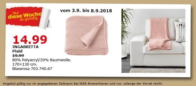 IKEA Bremerhaven - INGABRITTA Plaid - jetzt 25% billiger