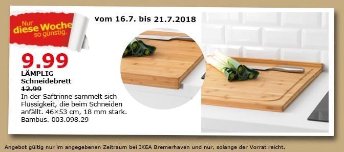 IKEA Bremerhaven LÄMPLIG Schneidebrett - jetzt 23% billiger