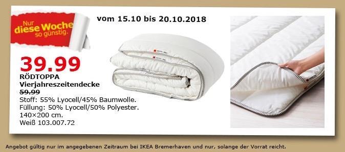 IKEA Bremerhaven - RÖDTOPPA Vierjahreszeitendecke