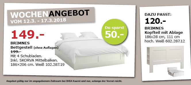 IKEA BRIMNES Bettgestell