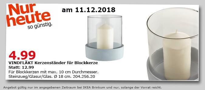 IKEA Brinkum - VINDFLÄKT Kerzenständer für Blockkerze