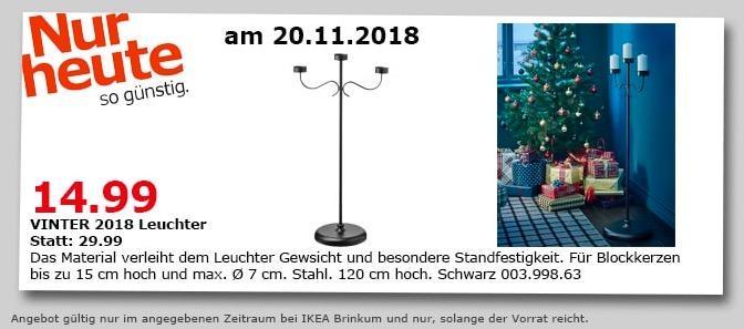 IKEA Brinkum - VINTER 2018 Leuchter, 120 cm hoch, schwarz