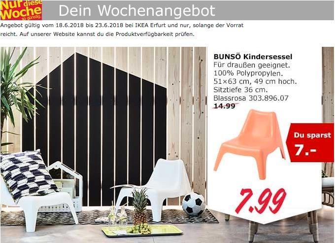 IKEA BUNSÖ Kindersessel