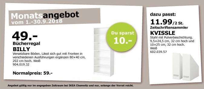 IKEA Chemnitz - BILLY Bücherregal, 80x40 cm, 202 cm hoch