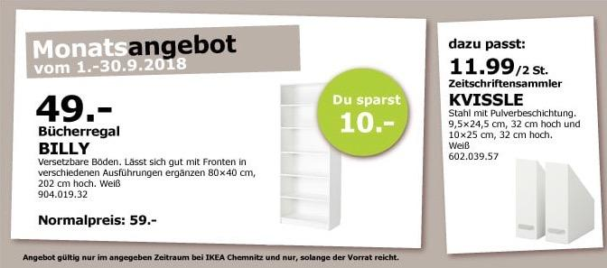 IKEA Chemnitz - BILLY Bücherregal, 80x40 cm, 202 cm hoch, weiß