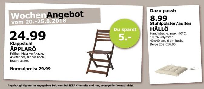 IKEA Chemnitz ÄPPLARÖ Klappstuhl