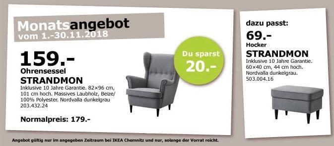 IKEA Chemnitz - STRANDMON Ohrensessel