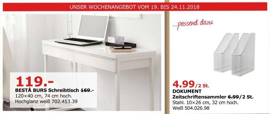 IKEA Düsseldorf - BESTA BURS Schreibtisch, Hochglanz weiß.