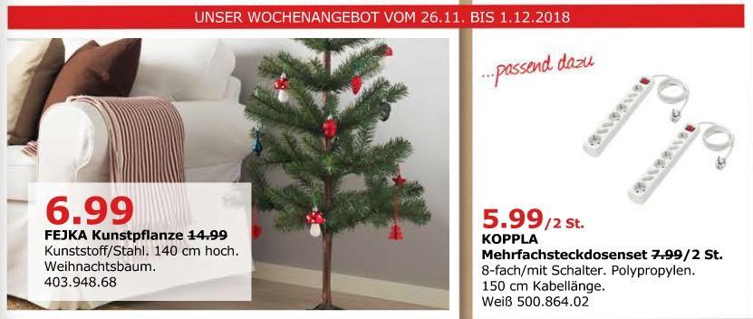 IKEA Düsseldorf - FEJKA Weihnachtsbaum (Kunstpfranze) 140 cm hoch