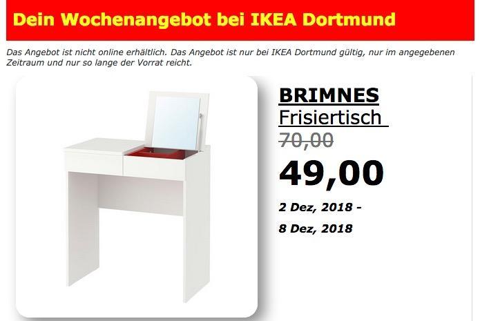 IKEA Dortmund - BRIMNES Frisiertisch