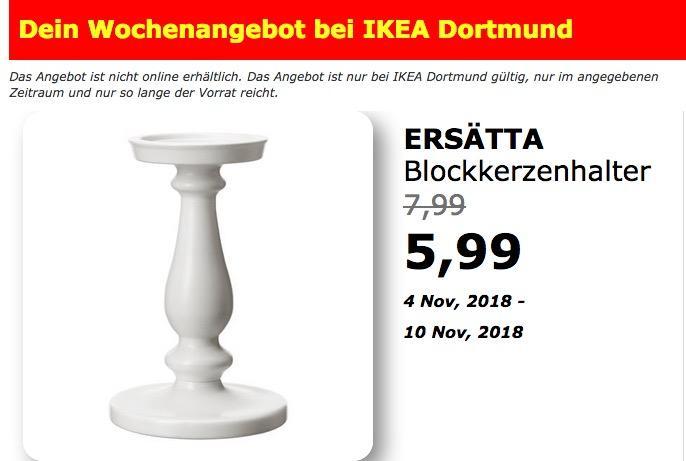 IKEA Dortmund - ERSÄTTA Blockkerzenhalter