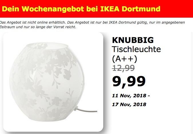 IKEA Dortmund - KNUBBIG Tischleuchte, Kirschblüten weiß