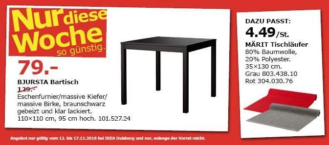 IKEA Duisburg - BJURSTA Bartisch, schwarz