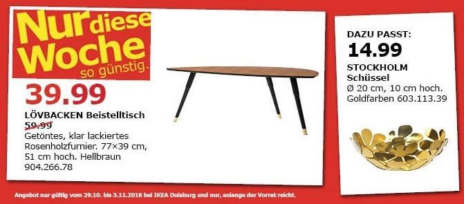 IKEA Duisburg - LÖVBACKEN Beistelltisch, hellbraun