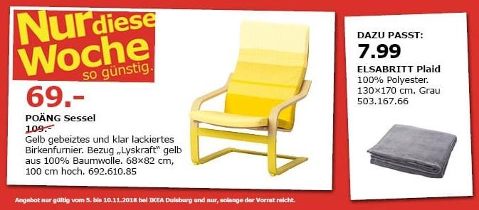 IKEA Duisburg - POÄNG Sessel in Gelb
