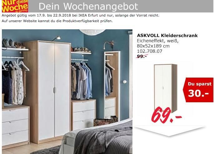 IKEA Erfurt - ASKVOLL Kleiderschrank