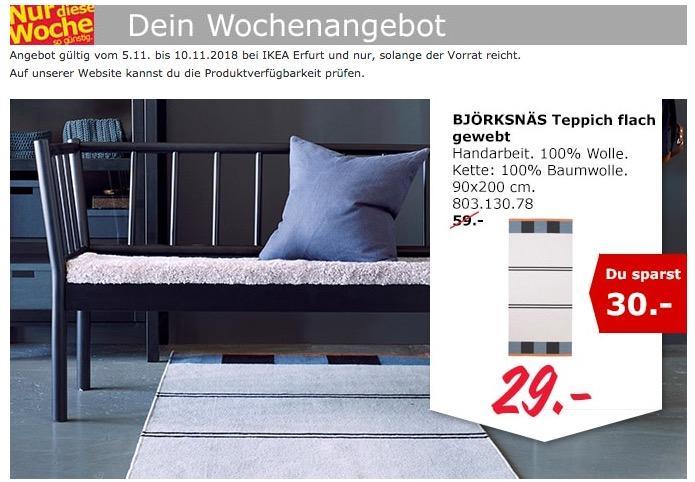 IKEA Erfurt - BJÖRKSNÄS Teppich