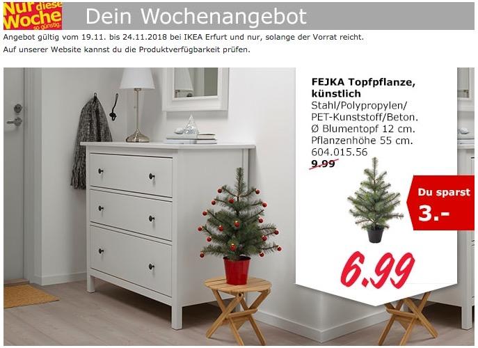 IKEA Erfurt - FEJKA Weihnachtsbaum,  künstlich