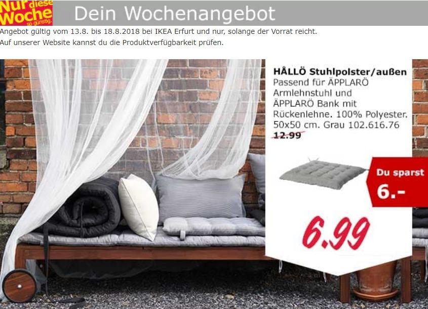 IKEA Erfurt Hallö Stuhlpolster
