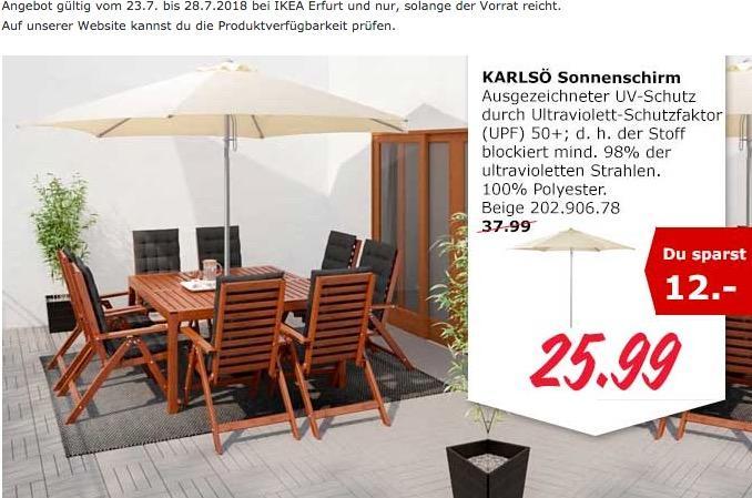 IKEA Erfurt KARLSÖ Sonnenschirm