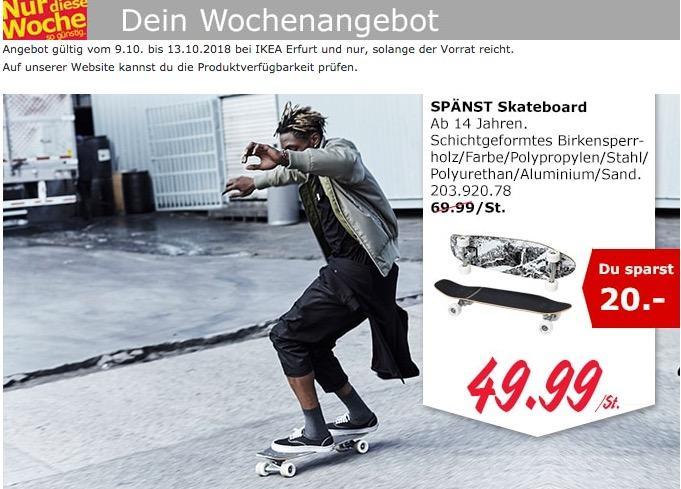 IKEA Erfurt - SPÄNST Skateboard