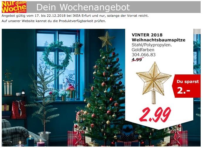 IKEA Erfurt - VINTER 2018 Weihnachtsbaumspitze - jetzt 40% billiger