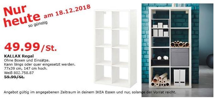 IKEA Essen - KALLAX Regal, 77x39 cm, 147 cm hoch - jetzt 17% billiger